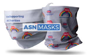 ASN face masks snoods logo